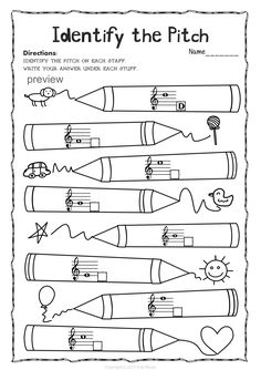 Musical Instrument Activity sheets- label the instrument
