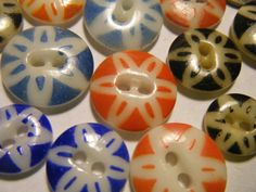 Antique china stencil buttons. Have a few of these and never knew what they were called.