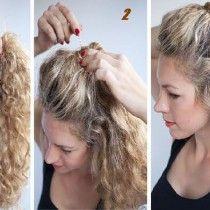 Coiffure Rapide Pour Cheveux Boucles Coiffure Cheveux Boucles Coiffure Rapide Coiffure Avec Headband