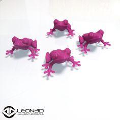 Ranitas impresas en PLA morado   #LEON3D #LIONPRO3D #innovacion #3dprinting #LEGIO3D #tecnologia #impresion3d