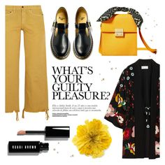 """""""Untitled #175"""" by raniaghifaraa ❤ liked on Polyvore featuring Simon Miller, RED Valentino, Dr. Martens, Bobbi Brown Cosmetics and Gucci"""