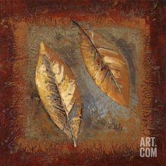 Rustic Leaf Square II Art Print by Lanie Loreth x Geometric Painting, Abstract Art, Painted Leaves, Art Prints For Sale, Collage Art, Collages, Texture Art, Botanical Art, Frames On Wall