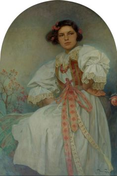 Alphonse Mucha- Elishka Polivkova