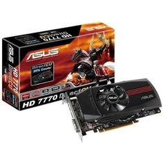 RADEON HD7770-DC-1GD5 PCI-E 3.0 by Asus. $225.00. DirectCU utilizes direct-contact GPU heatpipes for 20% cooler and significantly quieter performance than reference. ? GPU Tweak utility helps you modify and tune clock speeds, voltages, and fan performance via an intuitive interface. ? AMD EyefinityTM technology extends your viewing landscape across multiple monitors. ? New PCIe 3.0 delivers double the bandwidth per lane of PCIe 2.0 for faster GPU-CPU communication.