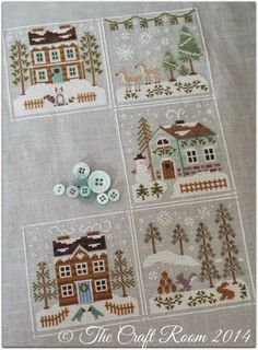 The Craft Room: Snow Explosion - Frosty Forest by Country Cottage Needleworks