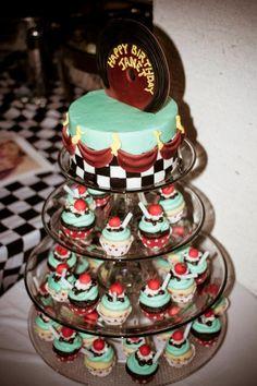my 1950's theme birthday cake