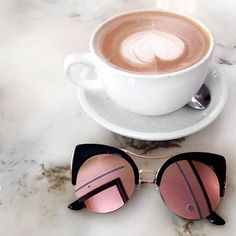 """Coffee date w """"Diggin' On You"""" sunnies from Beyandall.com 