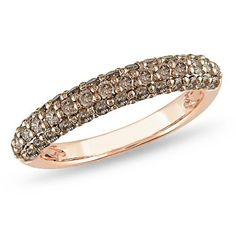 14K Pink Gold 3/4 ctw Brown Diamond Ring by amour, http://www.amazon.com/dp/B003U21X24/ref=cm_sw_r_pi_dp_1KpFpb04WJEAE