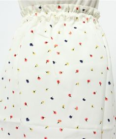 EmTROIS(エムトロワ)のエムトロワ 巻きスカートみたいなプリント二種遣いスカート(スカート) 詳細画像