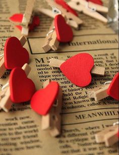 Red Heart for Wedding Party Decoration Favor,Wood Clip,Mini Craft Wooden Pegs Photo Hanging Spring Clips,wooden clips,Party Decoration Material:Wood x Thickness: conversion : 1 inch = or = inch Color:Red Heart Please Buyers Note:please leave Wooden Clothespins, Wooden Pegs, Birthday Favors, Gifts For Wedding Party, Red Wedding, Wedding Favors, Valentines Day Decorations, Valentine Day Crafts, Mini Craft
