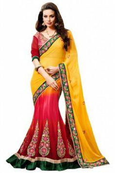 Fashion Femina Mesmerizing Lehenga Saree Crafted with Resham Work Saree