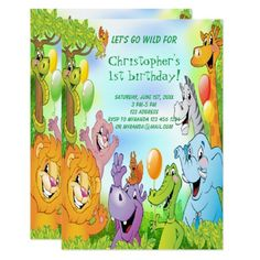 Green Birthday Invitation Cards Zazzle