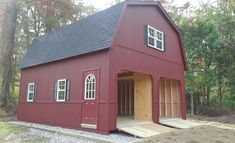 2-Story Double Wide Garage - Wood | Amish Backyard Structures