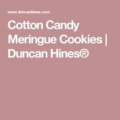 Cotton Candy Meringue Cookies | Duncan Hines®