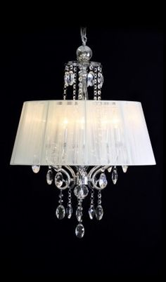 Thrift store Chandelier w lamp shade do the same thing?   I'll do this with my chandelier !
