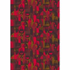 Marimekko Talvitarina Red PVC-Coated Fabric Printed in Finland with Sanna Annukka's Talvitarina (Winter Tale) design, this PVC-Coated cotton fabric adds festivity when turned into curtains, table linens, wall art and more. Fabric Patterns, Print Patterns, Marimekko Fabric, Pvc Coat, Winter's Tale, Modern Fabric, Red Fabric, Printing On Fabric, Finland
