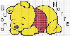 Risultati immagini per punto croce winnie the pooh