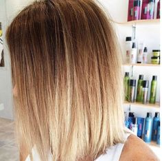 Long bob and ombré