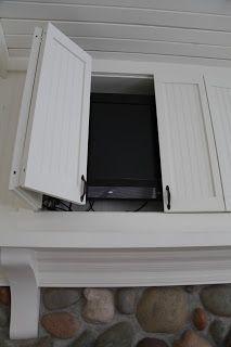 tv behind doors