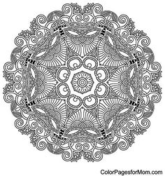 mandala: Circle lace ornament, round ornamental geometric doily pattern, black and white collection Illustration Pattern Coloring Pages, Mandala Coloring Pages, Free Coloring Pages, Coloring Sheets, Coloring Books, Doily Patterns, Zentangle Patterns, Color Patterns, Zentangles
