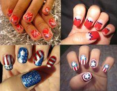America The Beautiful Patriotic Nail Art