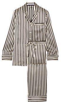 Pin for Later: Cinquante Nuances de Lingerie Pour une Saint Valentin Réussie  Pyjama en satin de soie à rayures Lila (567€)