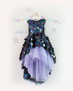 Lawanda Flower girl dress Rustic Flower girl dress Sparkle Dress sequin dress Girl dress  Girl dress christmas Birthday dress Party dress