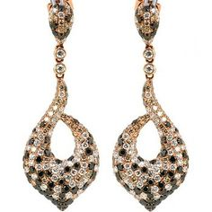 Jewelry Point 2 27ct Diamond Drop Chandelier Dangle Earrings 14k Rose Gold 3 990 00 Http Jewelrypoint