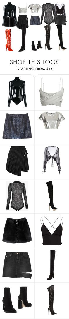 """""""Untitled #7621"""" by aurorazoejadefleurbiancasarah ❤ liked on Polyvore featuring A.F. Vandevorst, Marc Jacobs, The Ragged Priest, McQ by Alexander McQueen, FISICO Cristina Ferrari, Balmain, Versace, Oneness, Steve J & Yoni P and Brian Atwood"""