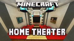 Minecraft Tutorial:  How To Build A Modern House  Ep.9  (Home Theater De...