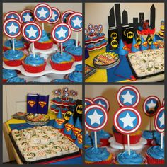 NEW Captain America Birthday Party Package by Craftycupcakegirl13, $75.00