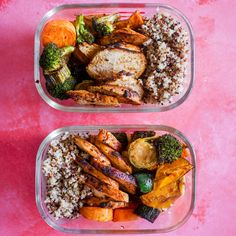 Curried Chicken, Roast Vegetable and Quinoa Meal Prep