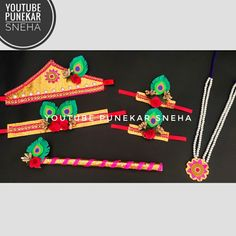 Krishna jewellery making at home, Krishna jewellery for baby boy, Krishna jewellery, Radha Krishna jewellery, Radha Krishna jewellery making, Radha Krishna jewellery set, Krishna jewellery making, Krishna jewellery making for baby boy, Krishna jewellery for kids, Krishna Janmashtami jewellery, jewellery making at home, Krishna ornament making, Punekar Sneha, Krishna Ornament Making For kids, Punekar Sneha, crafty Sneha Ganesh Chaturthi Decoration, Boy Or Girl, Baby Boy, Krishna Janmashtami, How To Make Ornaments, Jewellery Making, Jewelry Sets, Hair Accessories, Crafty