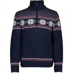 CMP Man Knitted Pullover trui heren navy