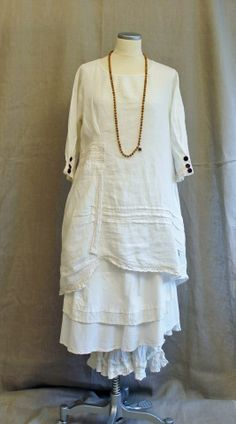 layered linen with ruffles