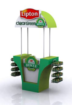Lipton Clear Green Stall by Hamza Shaukat, via Behance