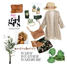 """""""heat_wave 😍"""" by sandrine-barhins on Polyvore featuring Banana Republic, Kate Spade and Yves Saint Laurent"""