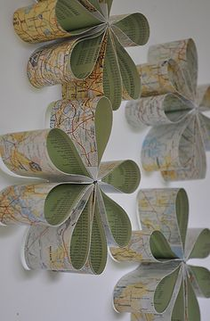 Map wall flowers