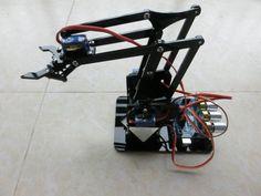 DIY Acrylic robot arm robot claw arduino kit 4DOF toys Mechanical grab Manipulator DIY