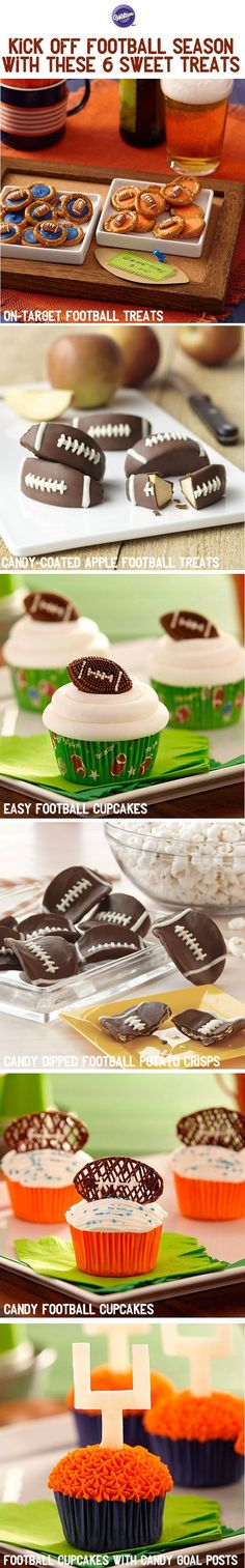Football season is here and many of us will be rooting for our favorite teams from the comfort of our homes with friends and family members. Alongside the chips and dip and chili bowls, make sure you have some sweet treats! These football-themed ideas are sure to score a touchdown with your taste buds.