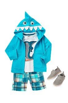 Perfect summer outfit. Love anything with a cutesie hood