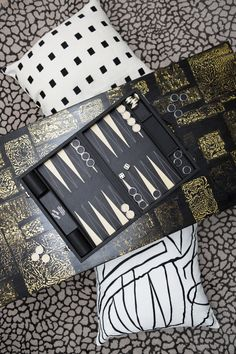 Fun and games for the man in your life. Xk #kellywearstler #games #backgammon #giftsforhim