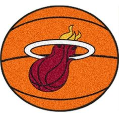 "Miami Heat Basketball Shaped Area Rug Floor Mat - 27"""