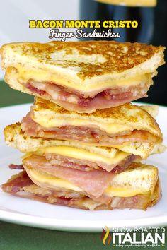 Bacon Monte Cristo Finger Sandwiches