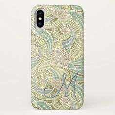 Custom Ornate Chic Pastel Paisley Floral Pattern iPhone X Case - beauty gifts stylish beautiful cool