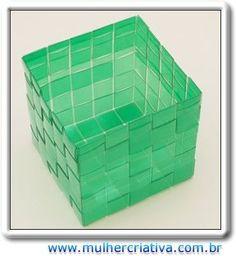 ARTESANATO FOFO: Garrafa PET - Como fazer uma caixa