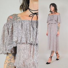 70's feather print silk dress • new to the shop