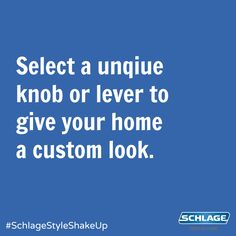 Still using that builder-grade hardware? Replace boring hardware with a set of unique knobs or levers to give your home a custom look. #SchlageStyleShakeUp