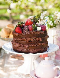 Herman Lensing's chocolate cake (SARIE mag, Jan 2011) I was looking for a nice…