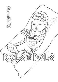 Pipa Cojín de Antonio Juan para #colorear #dibujo #antoniojuan #dolls #doll #muñeca #muñecas